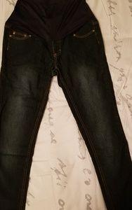 Dark Wash Skinny Maternity Jeans